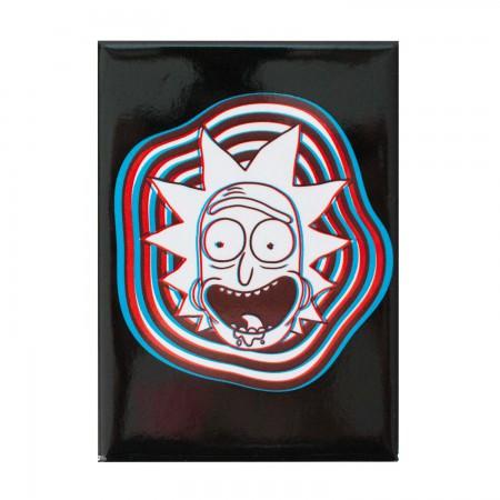 Rick And Morty Black 3D Rick Magnet