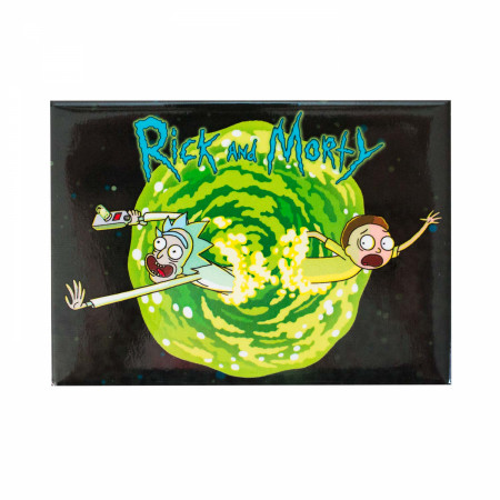 Rick And Morty Black Vortex Magnet