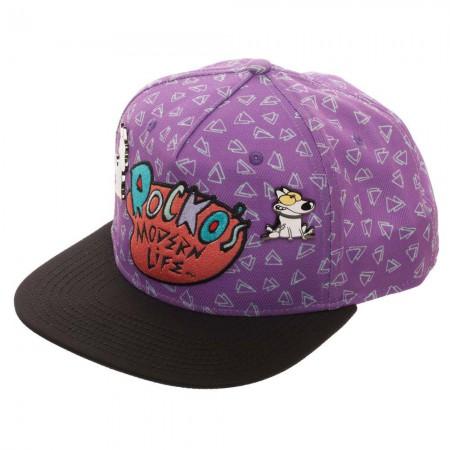 Rocko's Modern Life Purple Embroidered Snapback Hat