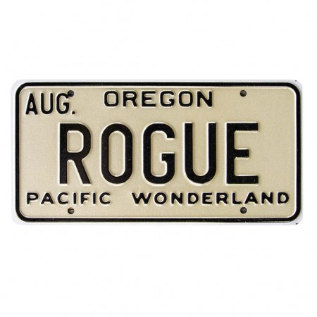 Rogue Beer Brewery License Plate Sign