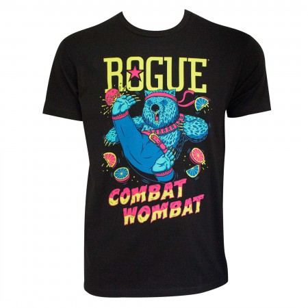 Rogue Combat Wombat Black Men's T-Shirt