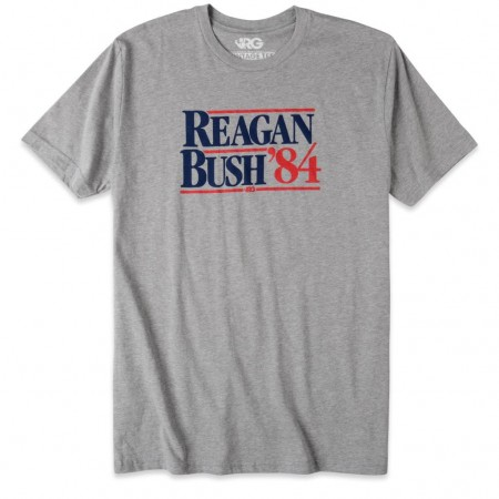 Rowdy Gentleman Men's Grey Reagan Bush '84 T-Shirt