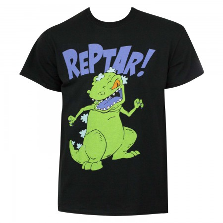 Nicktoons Rugrats Men's Black Reptar T-Shirt
