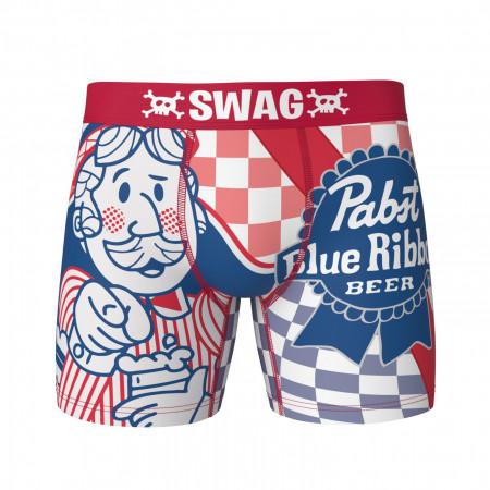 Pabst Blue Ribbon Beer Man Swag Boxer Briefs