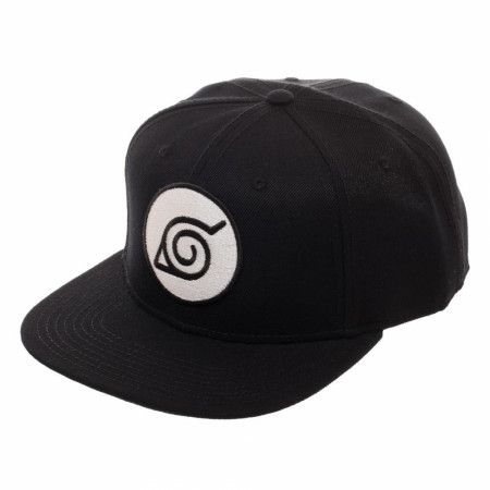 Naruto Leaf Black Snapback Hat
