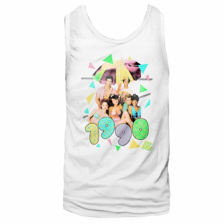 Saved By The Bell Classroom Hijinx White Tank Top
