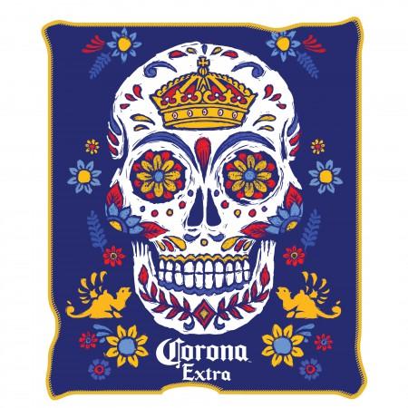 Corona Extra 45 X 60 Sugar Skull Fleece Blanket
