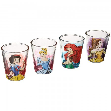 Disney Princess 4 Shot Glass Set