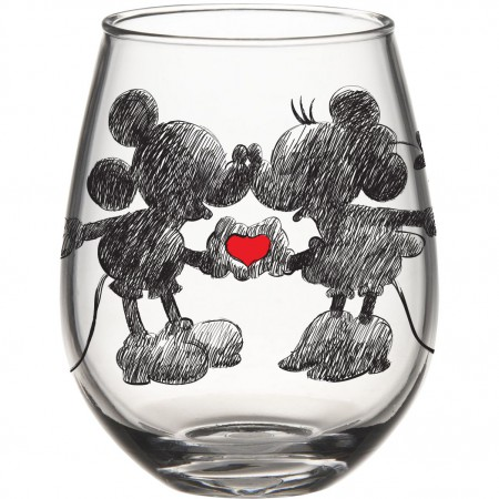 Mickey And Minnie Stemless 20 Ounce Wine Glass