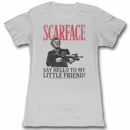 Scarface Say Hello Gray Juniors TShirt