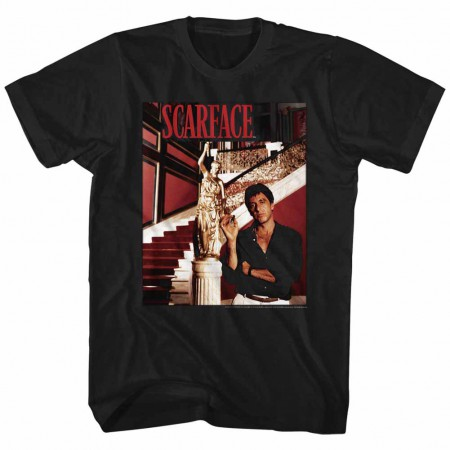 Scarface Statue Black T-Shirt