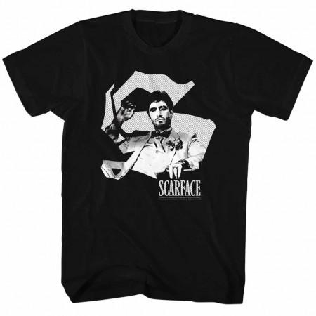 Scarface Scar S Black TShirt