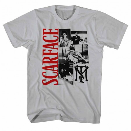 Scarface Montage Gray TShirt