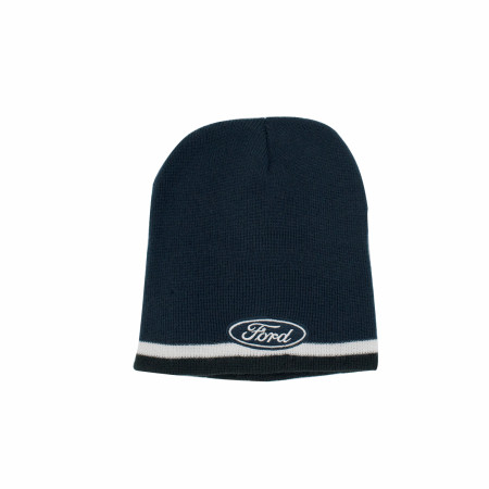 Ford Motor Co. Oval Logo Striped Knit Beanie