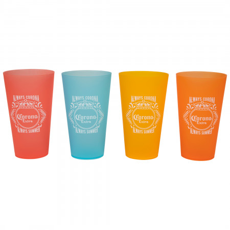 Corona Extra Grill Out 4-Pack Cup Set