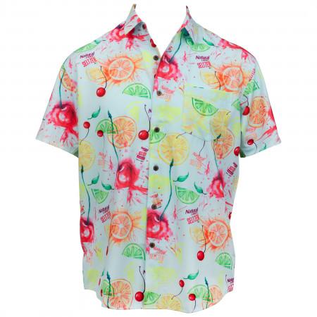 Natty Seltzer Natural Light Aloha Beaches Tropical Bros Hawaiian Shirt