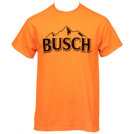 Busch Hunter Orange Mountain Logo T-Shirt
