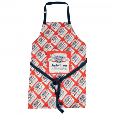 Budweiser Repeating Label Grill Master Collection Apron