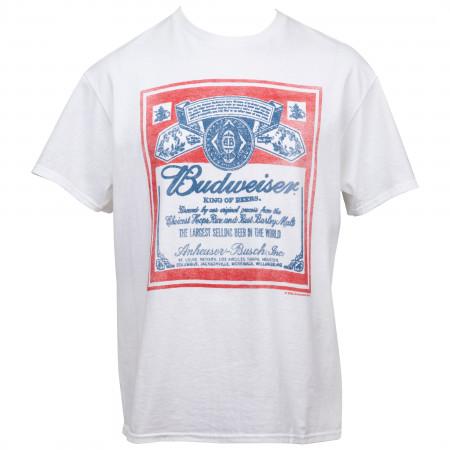 Budweiser King of Beers Vintage Label T-Shirt