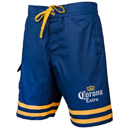Corona Extra Crossed Bottles Board Shorts