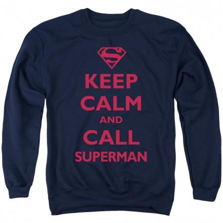 Superman Keep Calm Crewneck Sweatshirt