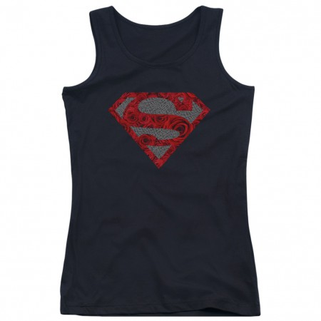 Superman Roses Logo Women's Tank Top