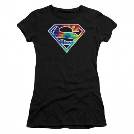 Superman Tie Dye Logo Women's Tshirt