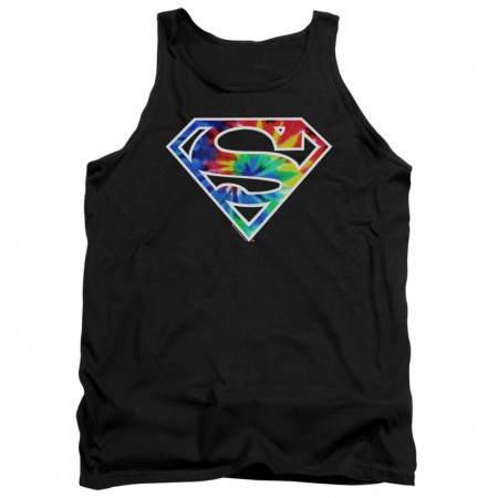 Superman Tie Dye Logo Tank Top