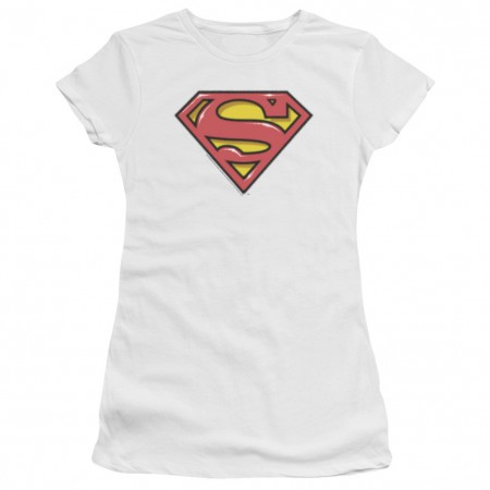 Superman Airbrushed Logo Women's Tshirt