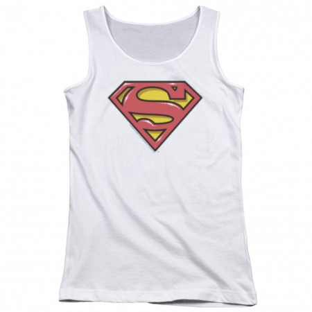 Superman Airbrushed Logo Women's Tank Top