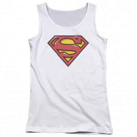 Superman Airbrushed Logo Women's Tank Top