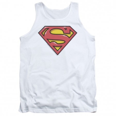 Superman Airbrushed Logo Tank Top