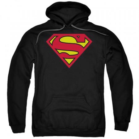 Superman Classic Logo Men's Black Hoodie