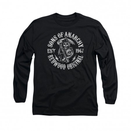 Sons Of Anarchy Redwood Black Long Sleeve T-Shirt