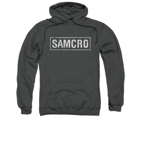 Sons Of Anarchy SAMCRO Logo Gray Pullover Hoodie