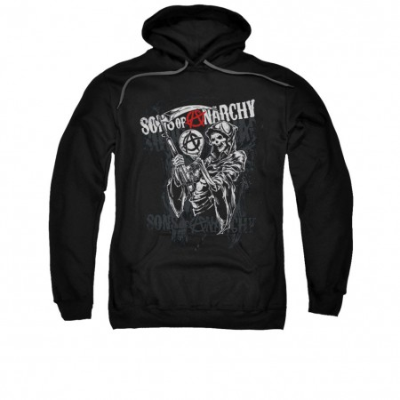 Sons Of Anarchy Reaper Logo Black Pullover Hoodie