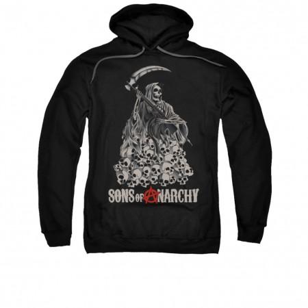Sons Of Anarchy Pile Of Skulls Black Pullover Hoodie