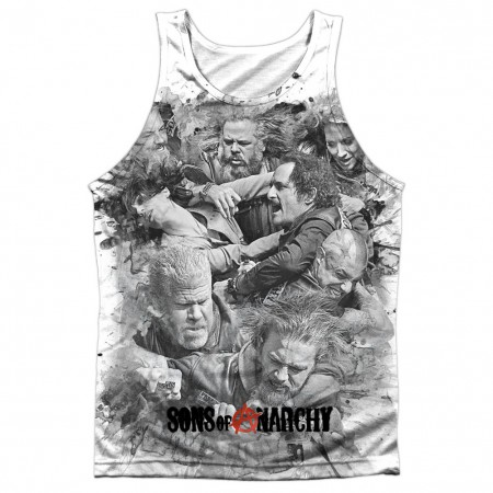 Sons Of Anarchy Brawl White Sublimation Tank Top