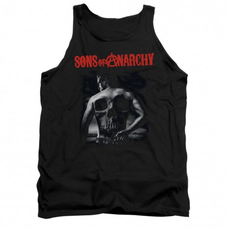 Sons Of Anarchy Back Skull Black Tank Top