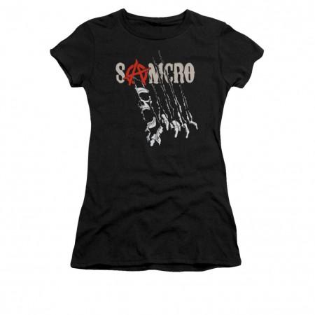 Sons Of Anarchy Rip Through Black Juniors T-Shirt