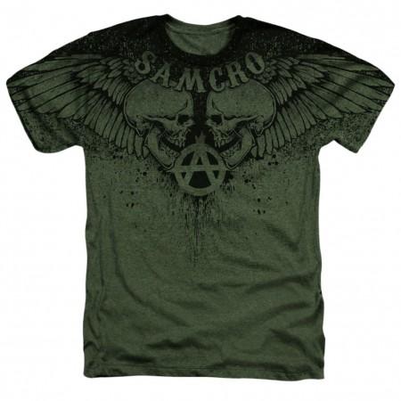 Sons Of Anarchy Winged Skulls Tshirt