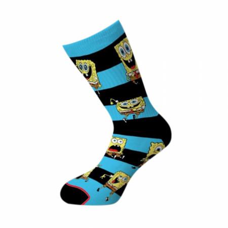 Spongebob Squarepants Stripes Crew Socks
