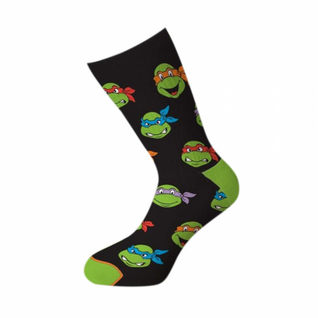 Teenage Mutant Ninja Turtles Faces Crew Socks