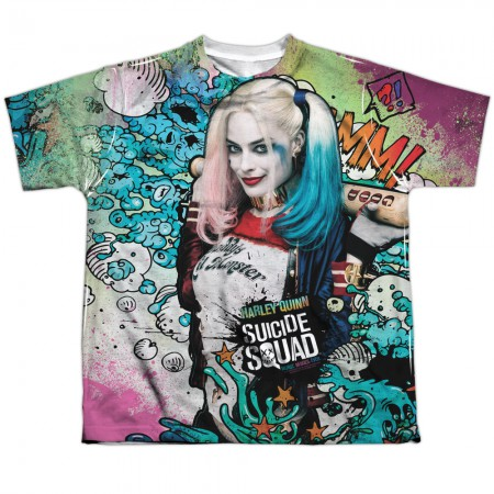 Suicide Squad Harley Quinn Sublimated Youth T-Shirt