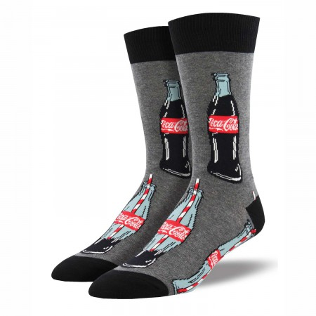 Coca Cola Good To The Last Drop Men's Grey Socks
