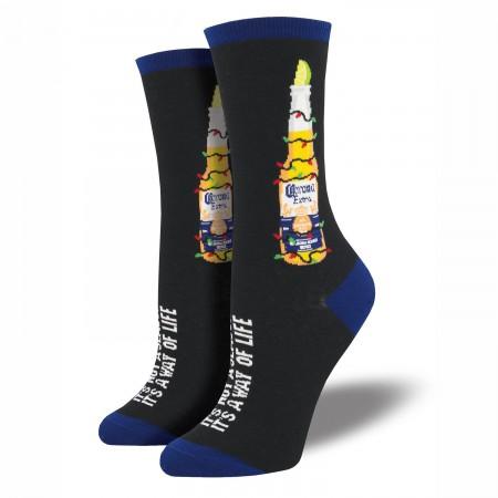 Corona Extra Black Christmas Coronavidad Women's Socks