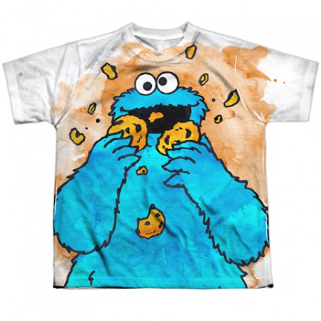 Sesame Street Cookie Monster Eating Youth Tshirt