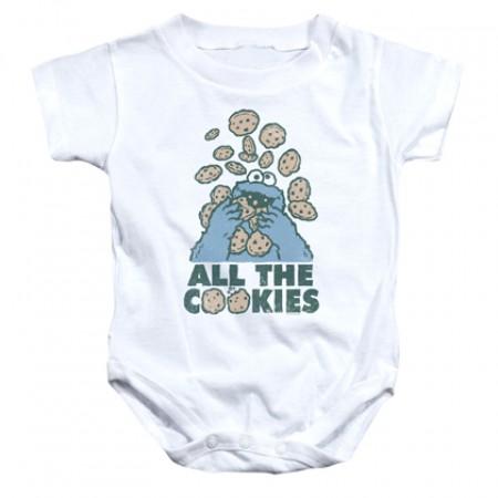 Sesame Street Cookie Monster All The Cookies Onesie