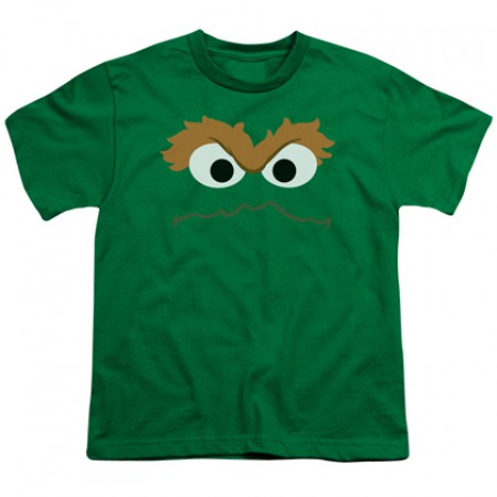 Sesame Street Oscar Big Face Youth Tshirt