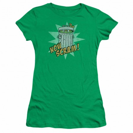 Sesame Street Now Scram Green Juniors T-Shirt